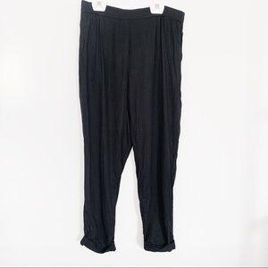 H&M Black Joggers w/ Pockets Size 8
